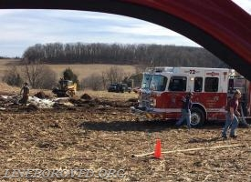 2017-02-18 13:14 7324 BRODBECK RD Hay bale fire