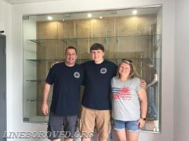 (Left to Right) LVFD members Dave Jaworski, Tyler Jaworski, and Jessica Jaworski